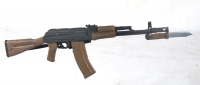 Russian AK-47 with solid stock and bayonet