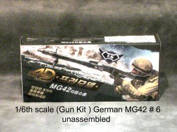 1/6 German MG42 Machine gun plastic kit