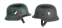 WW2 helmet double decal