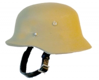 German plain tan helmet