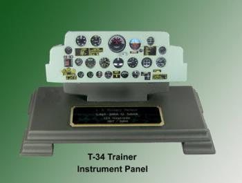 T-34 Trainer instrument panel plaque