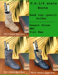 U.S. Military 1/4 scale Boot as pencil holder
