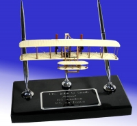 Wright Bros model on black marble base
