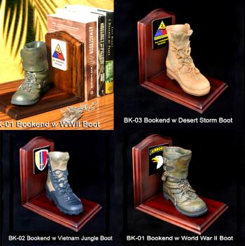 U.S. Military 1/4 scale Boots as bookends