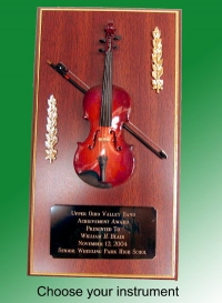 musical instrument plaque
