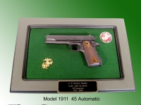 Model 1911 45 automatic plaque