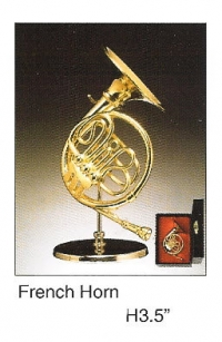 Miniature Musical Instrument French horn 3.5""