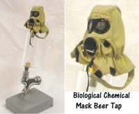Bio/Chemical war fare mask as beer tap