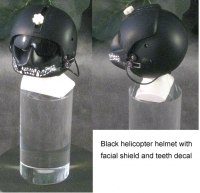 Black U.S.Army helicopter helmet
