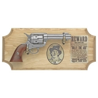 Billy the Kid six shooter ( framed ) metal