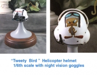 """ Tweety Bird "" helicopter helmet"