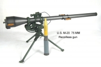 U.S. M-20 75 mm recoilless gun 1/6th scale