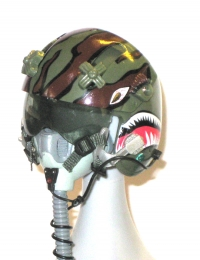 Pilot helmet helicopter w / ox mask