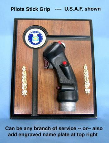 Stick Grip Plaque U.S.A.F. B-8 Stick