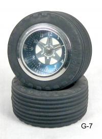 miniature auto tires as Clock