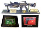 Gun displays as Gifts or Awards
