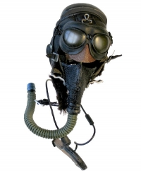 Chinese fighter pilot helmet and mask (Korean era)