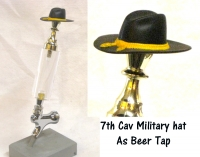 7th AIr Cav hat as beer tap
