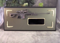 M82 Barrett sniper rifle plaque