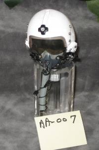 pilot helmet on acrylic base