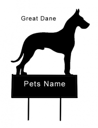 Great Dane dog grave marker