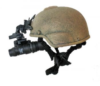 Tactical helmet with night scope