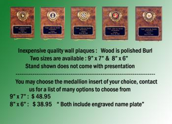 Inexpensive quality wall plaques