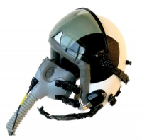 F-14 Fighter pilot helmet with ox mask