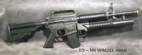 1/3 scale M4 with M203 all metal