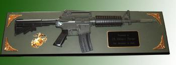 M-4 rifle wall plaque award ( Full Size Rifle )