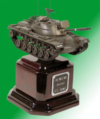 U.S.Army M-48 tank on Rosewood base