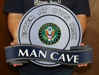 U.S. Army Man Cave metal sign