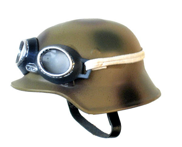 helmet dark with goggles - Click Image to Close