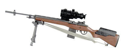 M-14 sniper rifle w/bipod and PVS-4 night scope - Click Image to Close