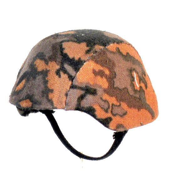 Helmet with Autum camo cover - Click Image to Close