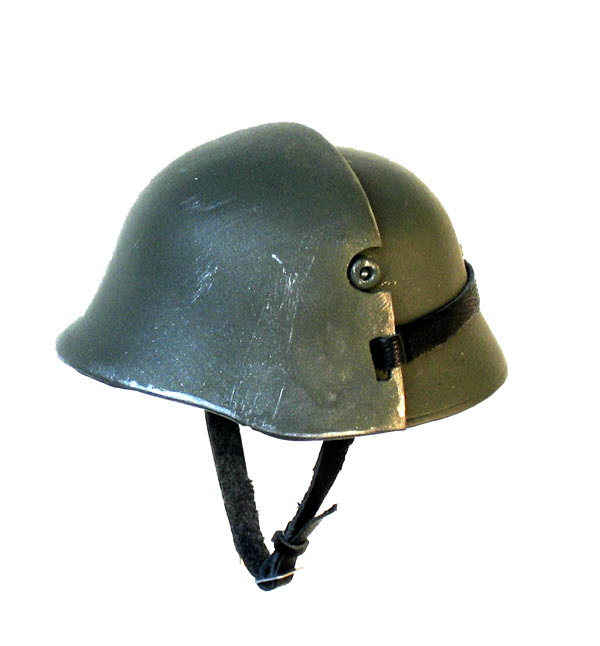 WW 1 helmet with bullet shield - Click Image to Close
