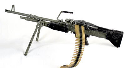 U.S. M-60 Machine gun with bi pod - Click Image to Close