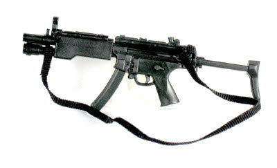 MP5- A3 With tac light and sliding stock - Click Image to Close