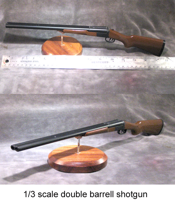 1/3 scale double barrell shotgun - Click Image to Close