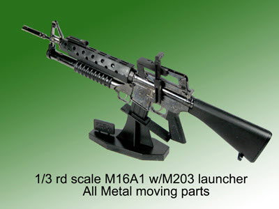 1/3 rd scale M16A1 w/m203 all metal - Click Image to Close