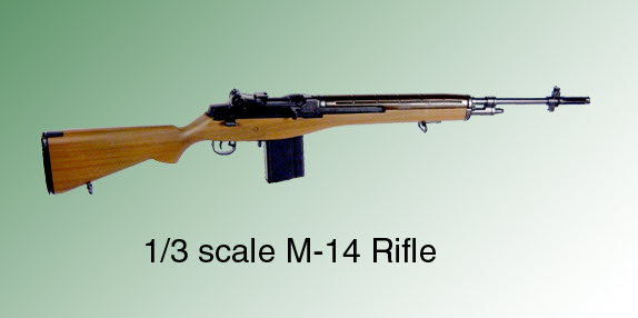 1/3 rd scale M-14 Rifle - Click Image to Close