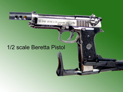 1/2 scale Beretta pistol all metal - Click Image to Close