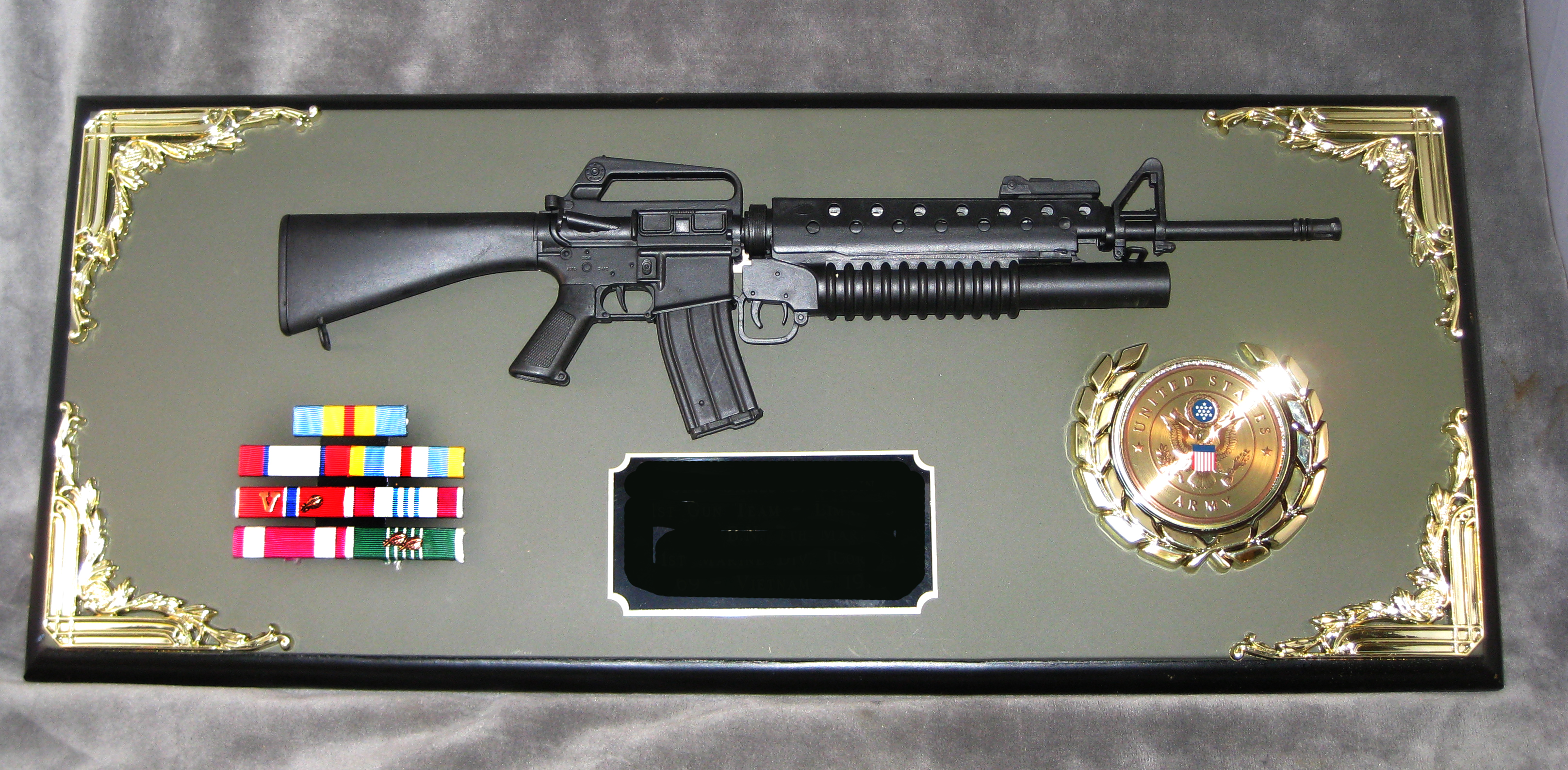 Award 1/3 scale M-16 w/M203 launcher - Click Image to Close