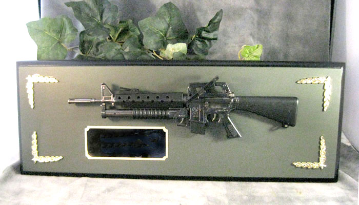 Award 1/3 scale M-16 W/M203 all metal - Click Image to Close