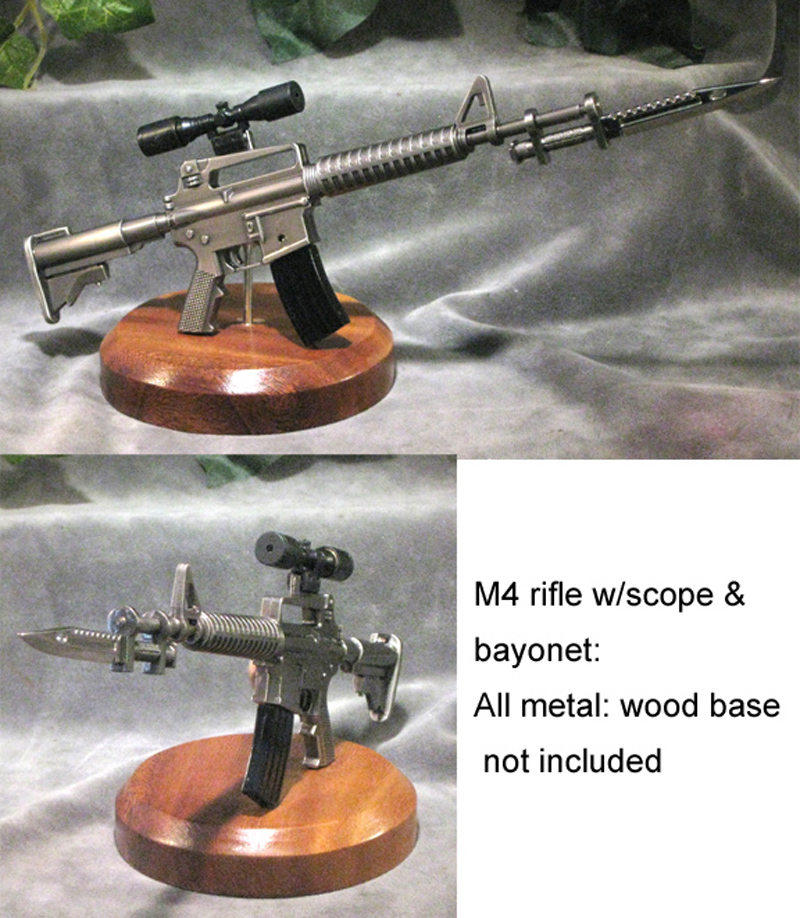 1/3 scale M4 with bayonet ---metal - Click Image to Close