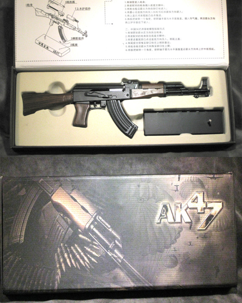 1/3 scale AK-47 solid stock - Click Image to Close