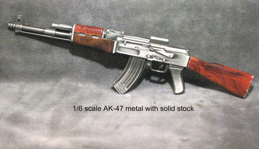 1/3 scale--AK-47 rifle -- metal - Click Image to Close