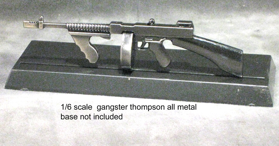 1/6 scale Thompson Gangster Model--metal - Click Image to Close