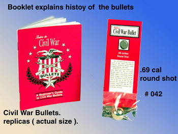 Civil War .69 Cal round shot