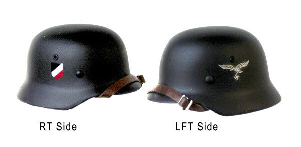 Luftwaffe decals on helmet - Click Image to Close